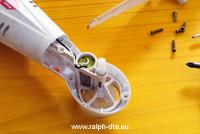 Modifica ingranaggi trasmissione drone
