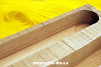 Fresatura legno massello - Prove di scanalatura su grezzo