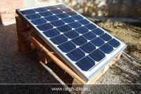 Pannello fotovoltaico al lavoro durante il test in condizioni più favorevoli