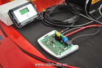Regolatore di carica collegato tra il pannello fotovoltaico e la batteria al piombo acido