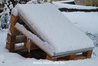 Il pannello coperto dalla neve produce 1/60 della sua potenza