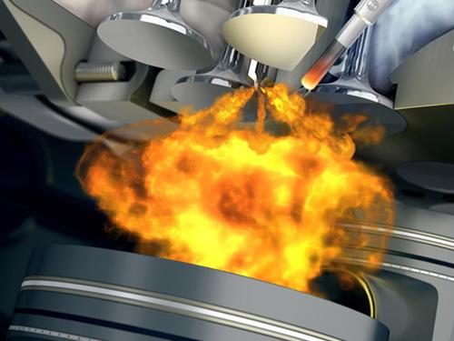 Simulazione della combustione in un motore 4 tempi