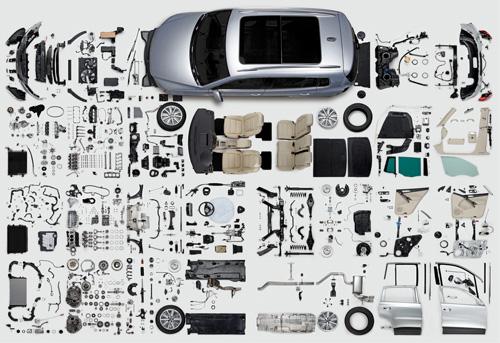 Componenti di un'automobile