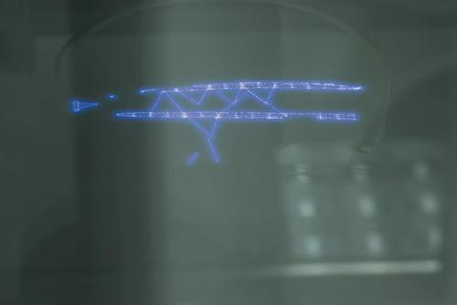Passaggio laser su resina fotopolimerica
